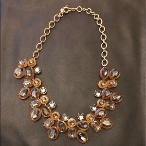 J. Crew Gray & Gold Statement Necklace